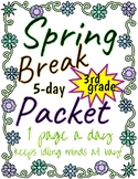 3rd Grade Spring Break Packet - Georgia Standards; Georgia Milestones practice