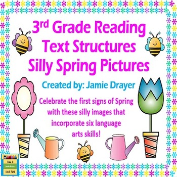 3rd Grade Silly Spring Images: Reading and Language Arts Skills