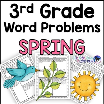 Spring Math Word Problem Worksheets 3rd Grade Common Core