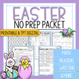 3rd Grade Easter Packet | Math and Reading Easter Worksheets