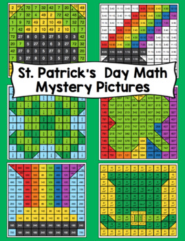 3rd Grade St. Patrick's Day Math: 3rd Grade Math Mystery Pictures