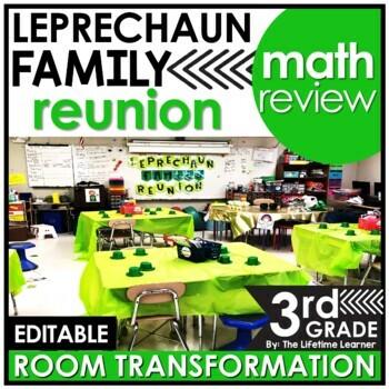 3rd Grade St. Patrick's Day Math Challenge - Leprechaun Family Reunion