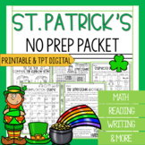 3rd Grade St. Patrick's Day Packet | Math and Reading St.