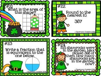 3rd Grade St. Patrick's Day Math (Common Core Aligned)