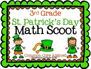 3rd Grade St. Patrick's Day Math (Common Core Aligned)