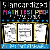 3rd Grade Standardized Math Test Prep Task Cards (MCA - Mi