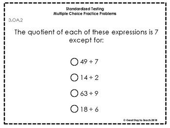 3rd Grade Standardized Testing Practice