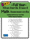 3rd Grade Standards Based Math Assessments- By Unit - Full Year