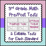 3rd Grade Math Pre and Post Tests