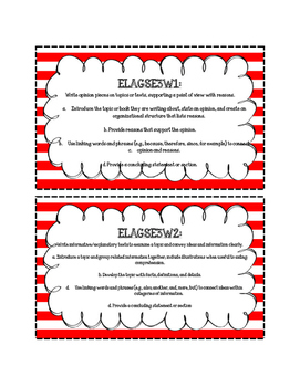 3rd Grade Standards Cards for Writing (Georgia Common Core)