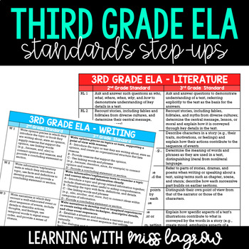 3rd Grade Standards Side-by-Side Progression List