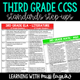 3rd Grade Common Core CCSS Standards Step-Ups Reference Ch