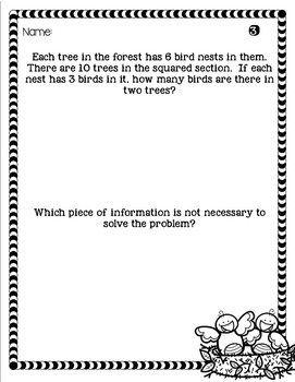 3rd Grade Problem of the Day Story Problems- April