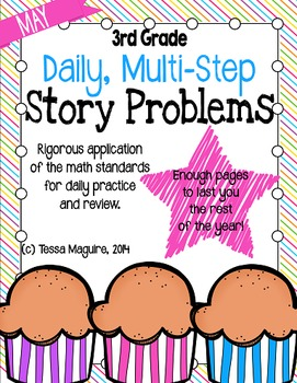 3rd Grade Problem of the Day Story Problems- May