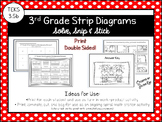 3rd Grade Strip Diagrams: Solve, Snip & Stick: Strip Diagrams: TEKS 3.5b