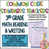 3rd Grade Student Common Core Standards Trackers for Math, Reading & Writing