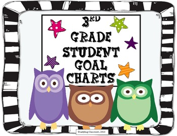 3rd Grade Student Goal Charts (Owl Theme)