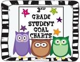 3rd Grade Student Goal Charts (Owl Theme)