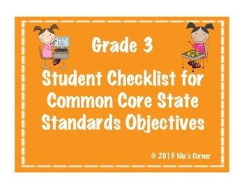 3rd Grade Student Math Objectives