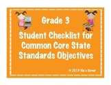3rd Grade Student Math Objectives