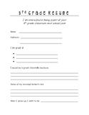 3rd Grade Student Resume