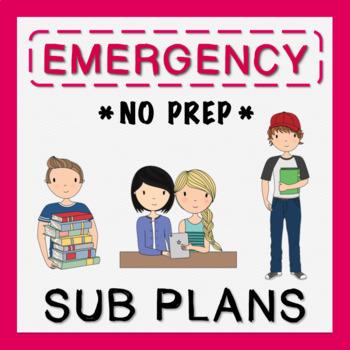 3rd Grade Emergency Sub Plans