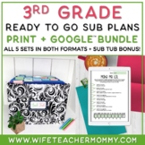 3rd Grade Sub Plans (Emergency Sub Plans) ONE FULL WEEK Bundle!