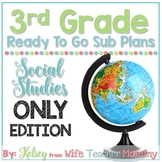 3rd Grade Sub Plans Social Studies Only Edition