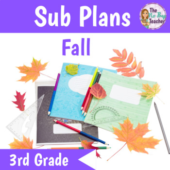 3rd Grade Sub Plans for Math and Science Fall Theme