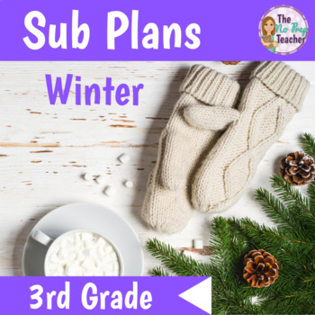 3rd Grade Sub Plans for Math and Science Winter Theme