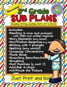 3rd Grade Substitute Plans - Sub Plans for Third Grade