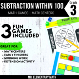 Subtraction Games and Centers 3rd Grade