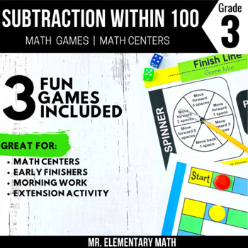 3rd Grade Subtraction Games & Centers