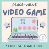 Math Fun Worksheets and Video Game for 3rd Grade Subtraction Distance Learning
