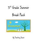 3rd Grade Summer Break / Vacation Pack