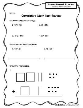 3rd Grade Summer Homework Packet