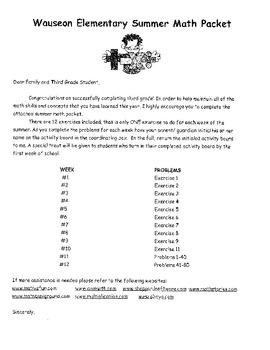3rd Grade Summer Math Packet