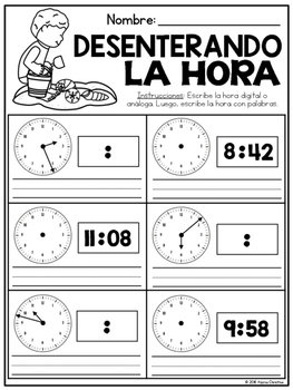 3rd Grade Summer Math Review in Spanish