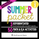 3rd Grade Summer Packet (Differentiated)