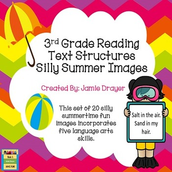 3rd Grade Silly Summer Images: Reading and Language Arts Skills