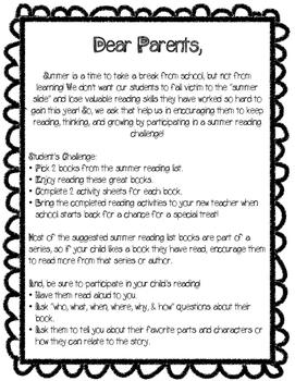 3rd Grade Summer Reading Challenge