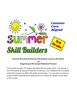 3rd Grade Summer Skill Builders / Entry to 4th Grade Review