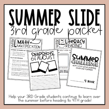 3rd Grade Summer Slide Packet