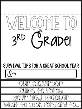 3rd Grade Survival Guide End of the Year Writing Activity
