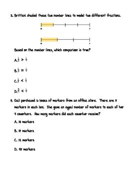 3rd Grade TEK - Mixed Assessment #4  TEK ALIGNED!