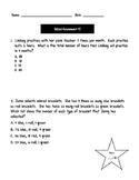 3rd Grade TEK - Mixed Assessment #5  TEK ALIGNED!