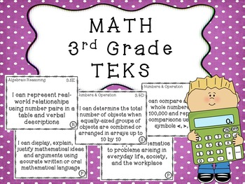 3rd Grade TEKS BUNDLE All Subjects