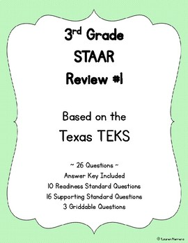 3rd Grade TEKS Based STAAR Review #1