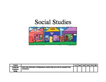 3rd Grade TEKS Checklist