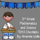 3rd Grade TEKS Checklist- Math and Science